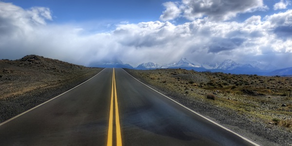 Driving into the Andes